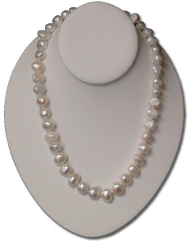 baroque multicolour large clasp silver necklace with pearls cz pearl